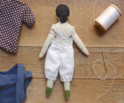 Handmade Rag Dolls Patterns - a wardrobe for miss dahlia progress on the tiny rag doll
