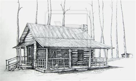 cabin drawings pencil drawings of horses log cabin pencil drawing cabin