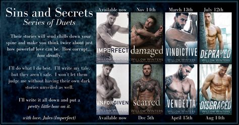 series reveal sins secrets series by willow