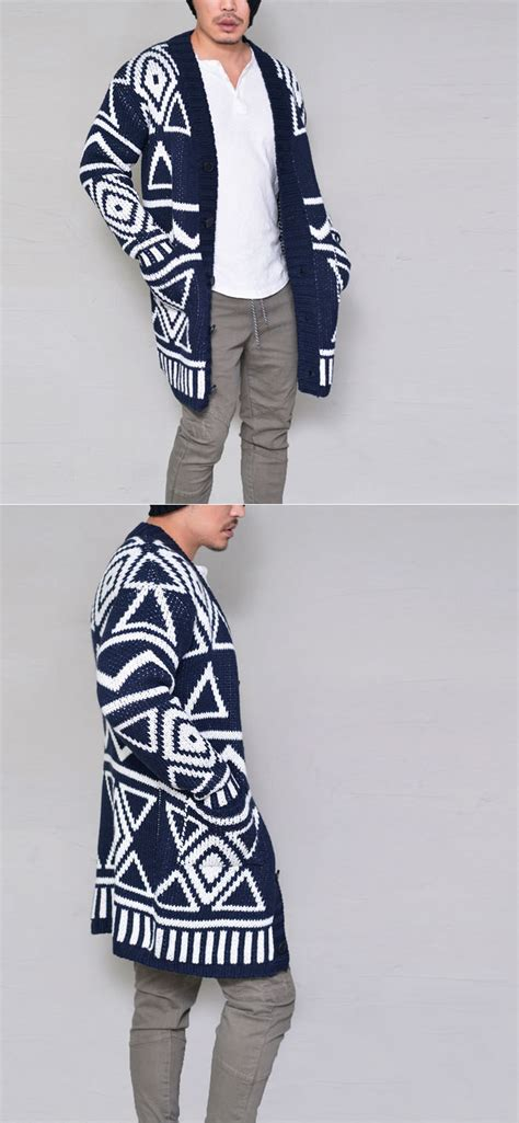 tribal pattern cardigan sweater outerwear cardigans tribal pattern long sweater