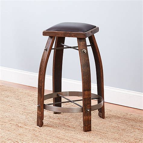 Vintage Barrel Bar Stools by Vintage Oak Wine Barrel Bar Stool With Whiskey Finish And