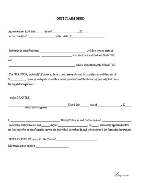 quitclaim deed template an overview of a quit claim deed bobbie files