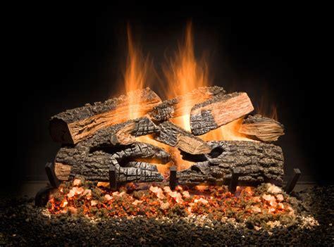 gas log contemporary glass sets sag harbor fireplace