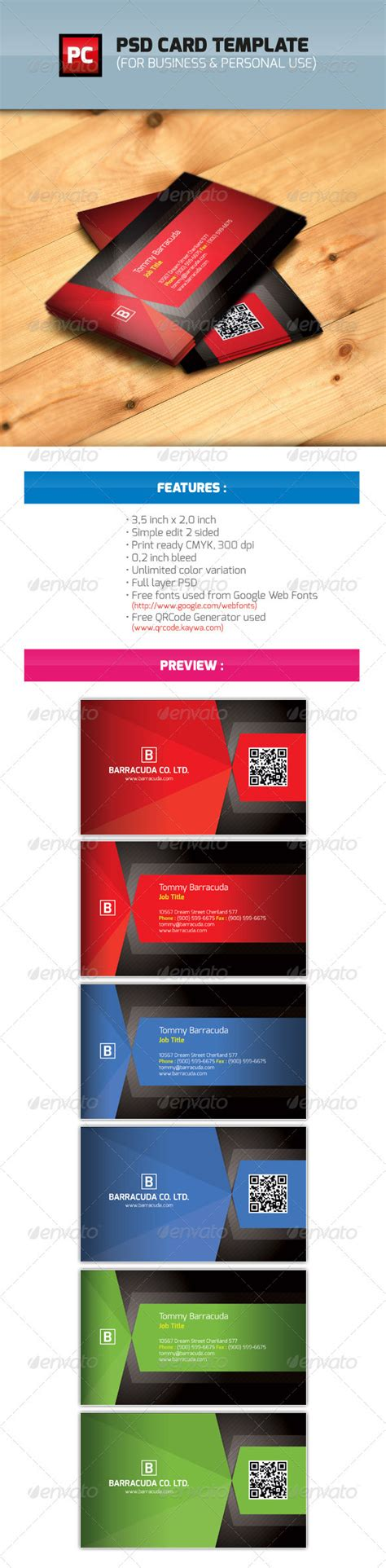 personal cards templates psd psd business personal card template graphicriver