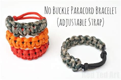 How to make Paracord Bracelets (with no Buckle and adjustable strap)   Red Ted Art's Blog