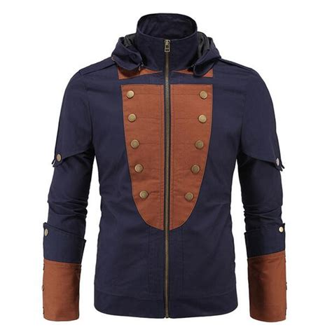 Jaket Parka Assasin Craem 2016 fashion brand jackets assassin s creed high quality jacket coats multi button