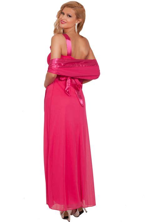 one shoulder flower gown s m l 18193 one shoulder asymmetrical floral length formal