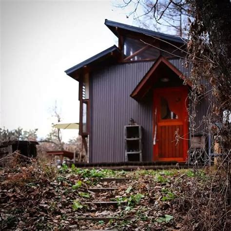 off grid tiny house deep in the carolina woods built for daigo designs tiny off grid cabin in japanese woods
