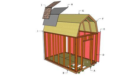 gambrel shed plans myoutdoorplans  woodworking