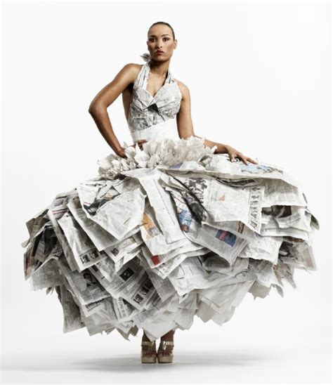 new year paper clothes thebigfront newspaper dresses make headlines