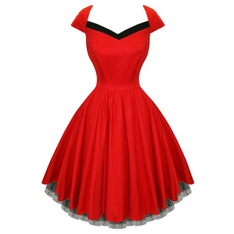 swing vintage dresses rkh51 hearts roses flared pin up party rockabilly dress