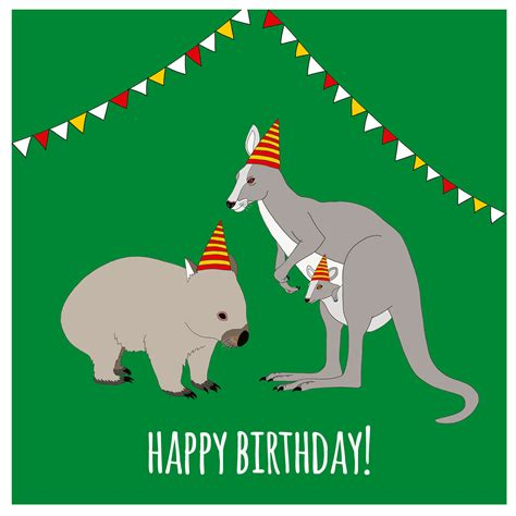 card australia australian birthday card by redparka on etsy