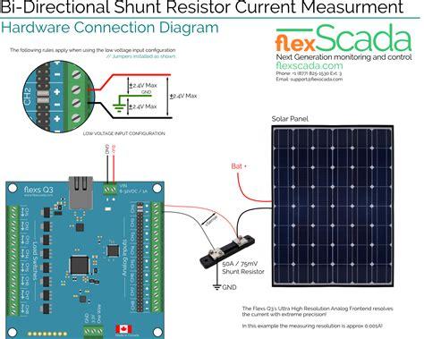 solar panel shunt diode monitoring solar watts s the using a current shunt resistor flex scada