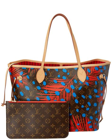 Louis Vuitton Limited Edition 50113 lyst louis vuitton limited edition blue jungle dots neverfull mm nm in