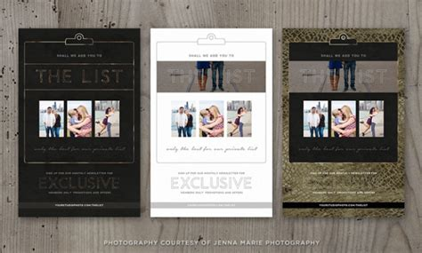 photography newsletter template photographer marketing template newsletter sign up luxe