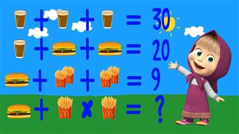 imagenes de niños trabajando matematicas moju masha y el oso adivinando las matem 225 ticas en espa 241 ol