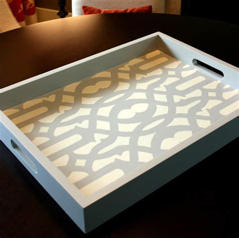 diy tray 10 stunning diy home decor stencil projects stencil