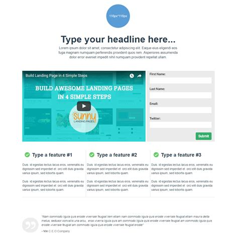 Solopreneurs Sunny Landing Page Templates Recruitment Landing Page Template