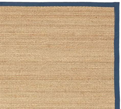 Fibreworks 174 Custom Color Bound Seagrass Rug Indigo Pottery Barn Seagrass Rug