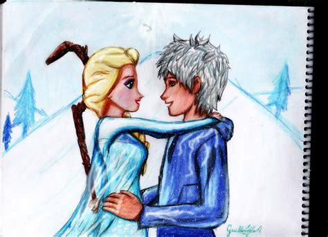 imagenes de jack y elsa drawing of elsa and jack frost by guillermoantil on deviantart