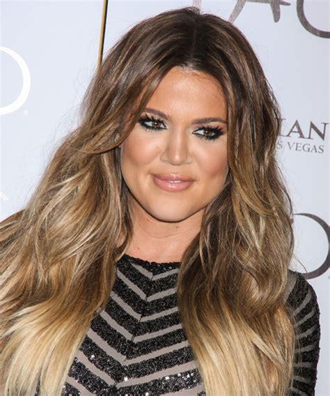 how to get khloe kardashian hair color 2014 khloe kardashian long straight casual hairstyle light