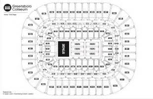 Greensboro Coliseum Floor Plan by Seating Chart See Seating Charts Module Greensboro