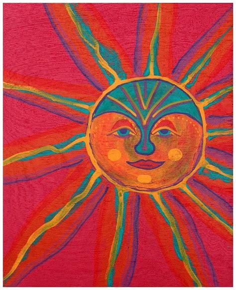 acrylic paint sun sun painting orginal acrylic painting sun