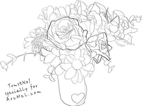 How To Draw A Vase Step By Step by How To Draw A Vase Of Roses Step By Step Auto Design Tech