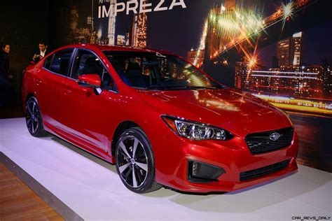 subaru impreza sport 2017 subaru impreza sport and 5 door live ny debut 187 car