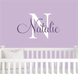 name wall stickers australia monogram name wall decal children initial girl decals