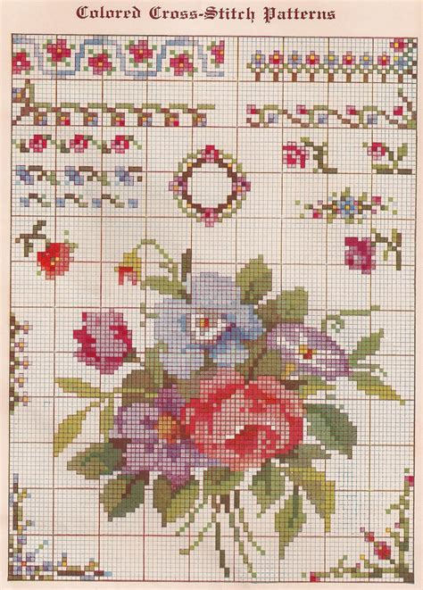 free pattern in cross stitch sentimental baby free vintage colored cross stitch pattern