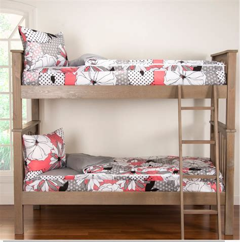 Bunkies For Bunk Beds Zipper Bedding For Bunk Beds Crayola Flower Patch Bunkie