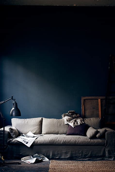 dark blue paint living room the new interiors colour palette aubergine and indigo in pictures life and style the guardian