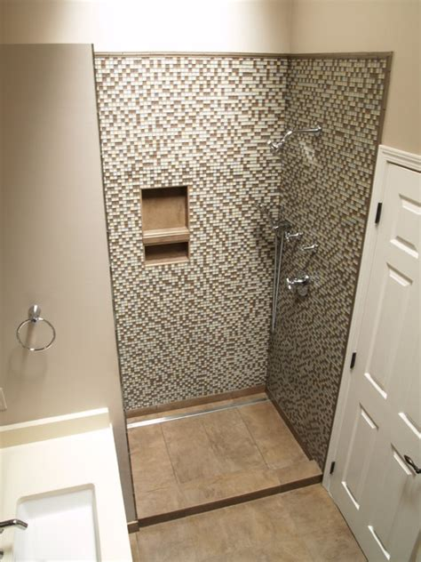 bathroom channel drain linear channel drain shower contemporary bathroom detroit by residential