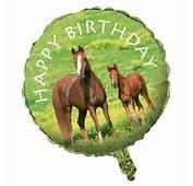 Cavalli Tema Festa Buon Compleanno 45cm Tondo Foil Palloncini