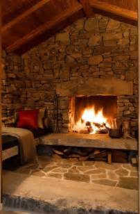 Rustic Fireplace rustic stone fireplace old fireplaces pinterest the winter