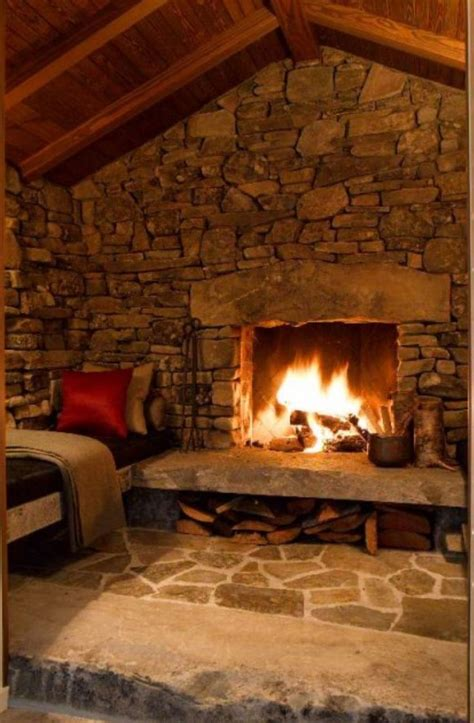 rustic fireplace the gallery for gt rustic stone fireplaces