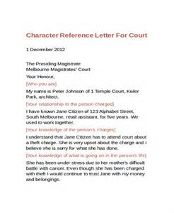 Character Reference Letter For Court Template Exles Of Letters Of Character Reference For Court Docoments Ojazlink
