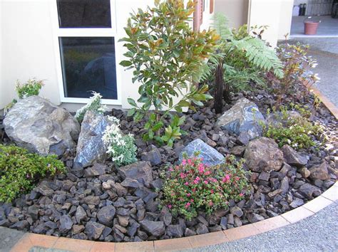 house french country kitchen: designing your patio with rock landscaping ideas