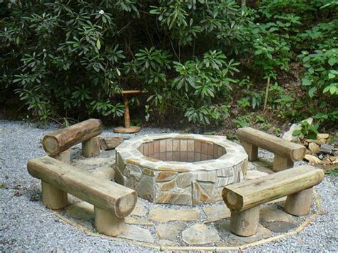 diy outdoor pit seating log seats around pit outdoor
