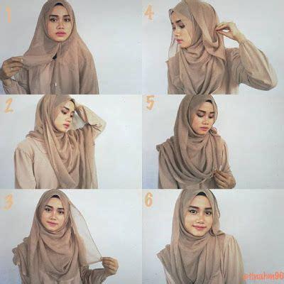 tutorial jilbab segi empat kerja 1000 images about hijab terbaru fashion dan aksesoris on
