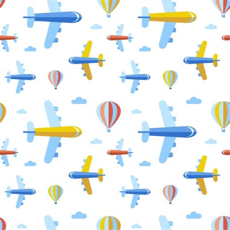 pattern plane video airplanes pattern background vector free download
