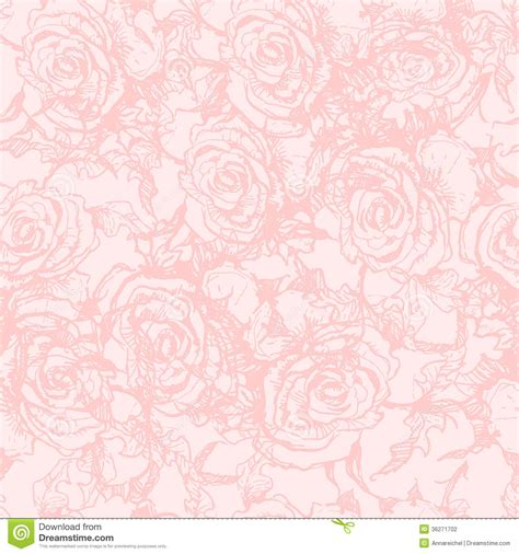 free wedding pattern background seamless pattern with hand drawn roses stock photography
