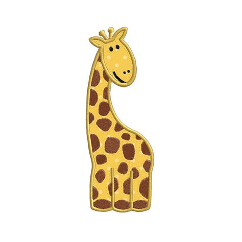 giraffe applique giraffe jungle animal applique machine embroidery designs