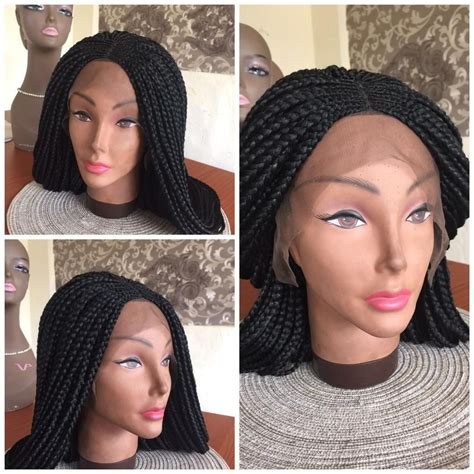 ghanaians wig styles braided wig lace front ghana weave color black