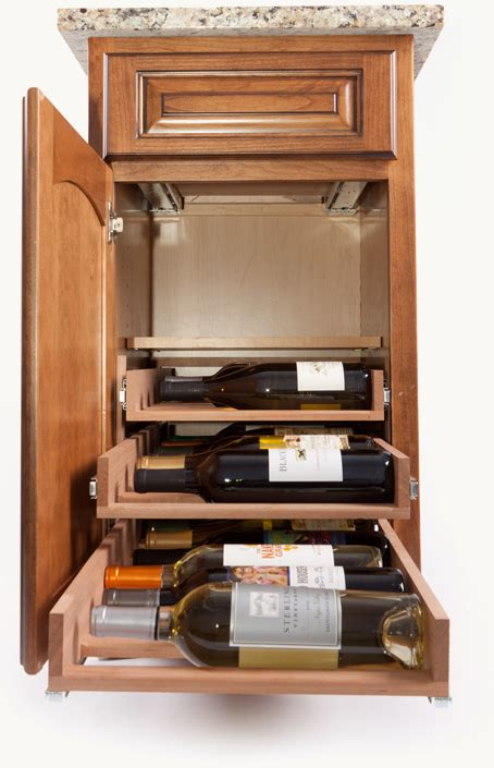 in cabinet wine racks by wine logic gt gt kitchen storage