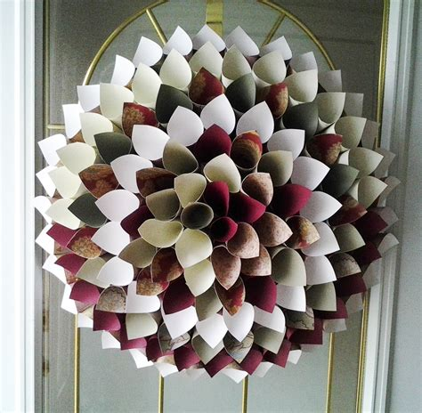 Paper Wreath Craft - 18 best photos of paper wreath crafts recycled magazine