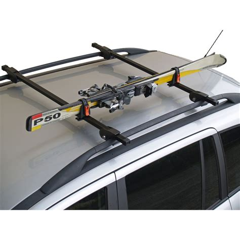 porte ski voiture porte skis sur barres de toit menabo ski rack 423618 pour