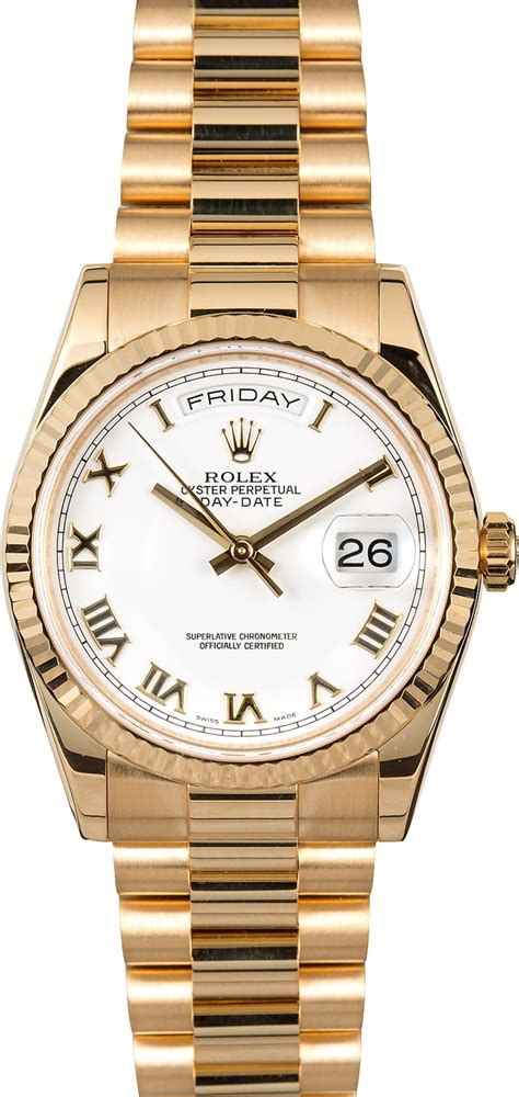 Costie Date Just Index Like A Rolex s rolex president 118238 white