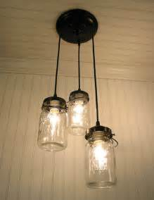 3 jar chandelier vintage canning jar chandelier by lgoods eclectic